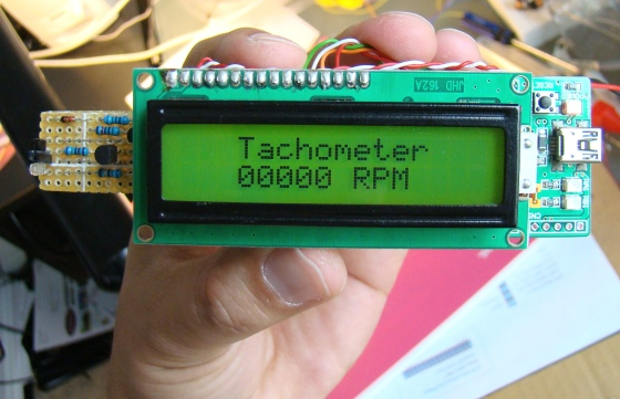 how to make a contact less digital tachometer using ir light contact less digital tachometer