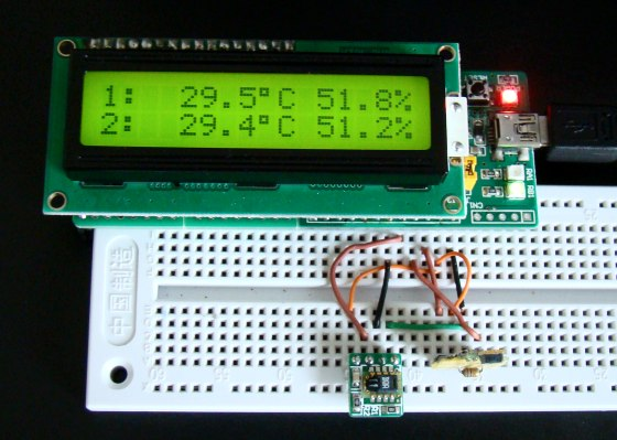 Humidity and temperature measurements with Sensirion's SHT1x