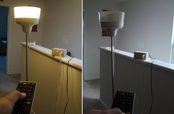 A very simple IR remote control switch for an electrical
