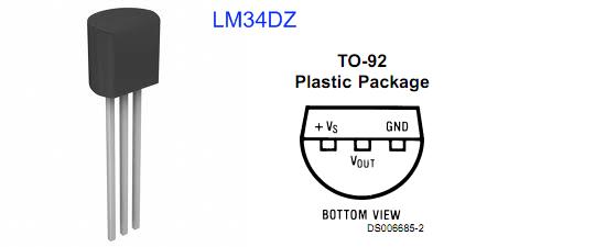 LM34DZ pin diagrams