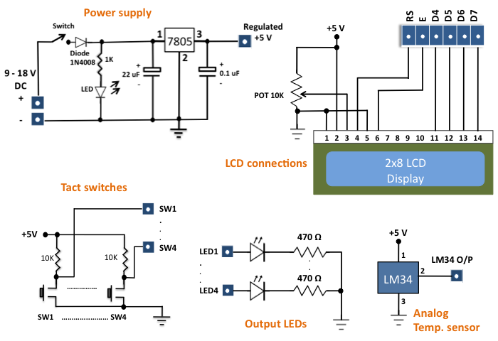 Circuit diagram of the I/O board