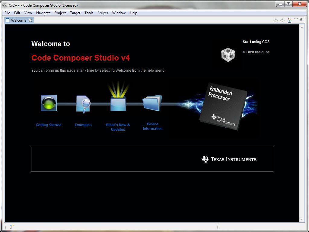 Setting up the CCS v4 build and debug environment for TI