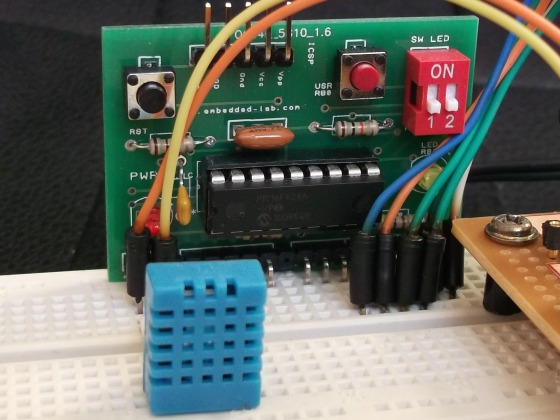 Measurement of temperature and relative humidity using DHT11 sensor