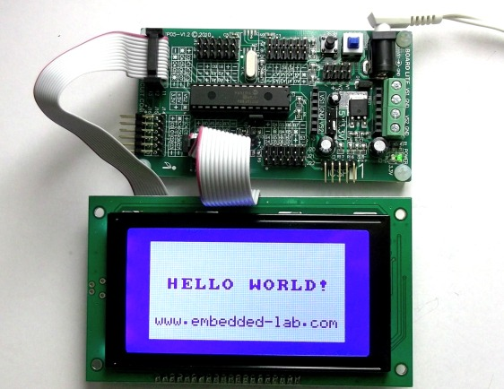 PIC-based GLCD development kit from iCircuit Technologies