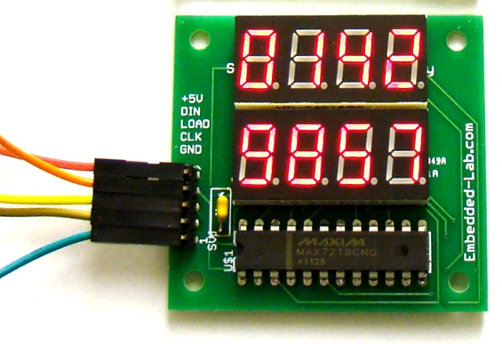 8-digit seven segment LED display with serial interface