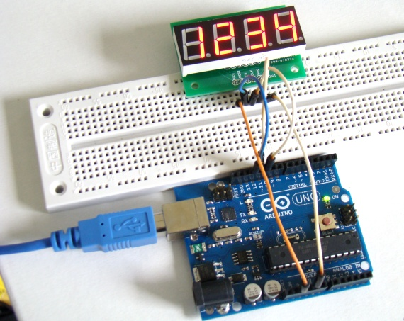 Serial four digit 7-segment LED display module - Embedded Lab