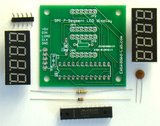 Display Counter Circuit Board : Dual digit seven segment led display with spi interface