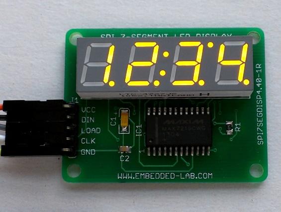 Serial four digit 7-segment LED display module - Embedded Lab