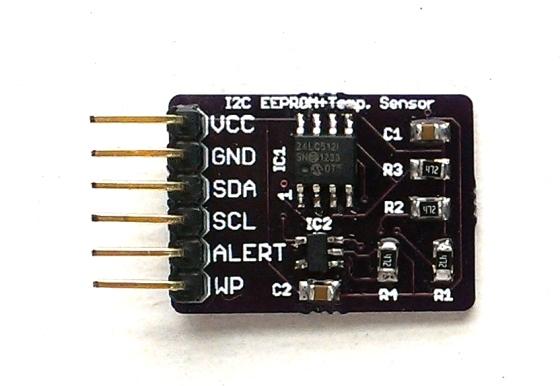 I2c temperature sensor