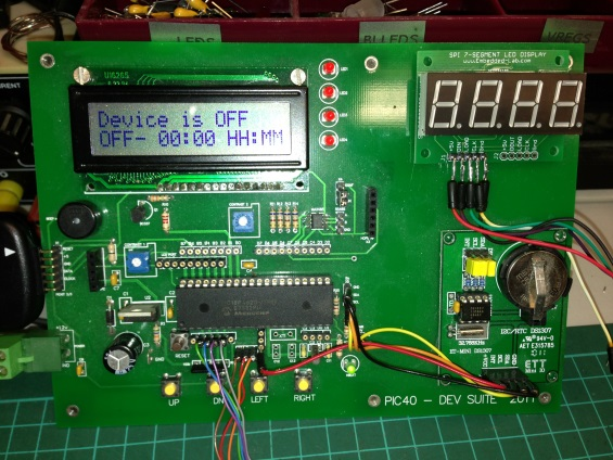 Digital timer relay using PIC18F4620 - Embedded Lab