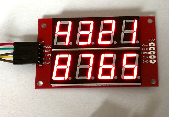 SPI7SEGDISP8.56-2R: MAX719-based seven segment LED display module