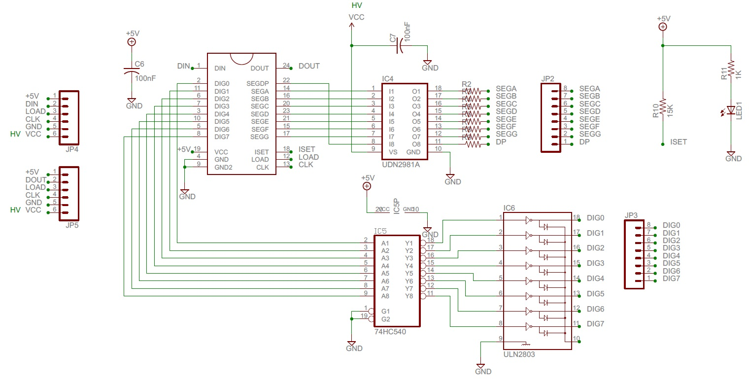 High Voltage Seven Segment Led Display Driver With Spi Interface Wiring Diagram For A Circuit Click To Enlarge