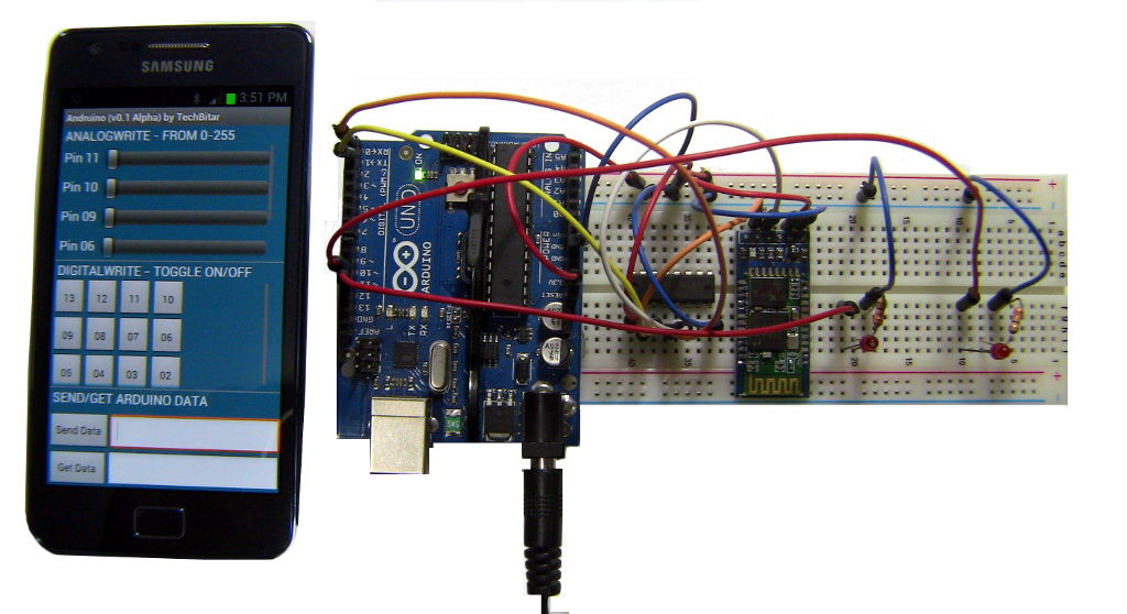 Two way bluetooth between arduino and android embedded lab