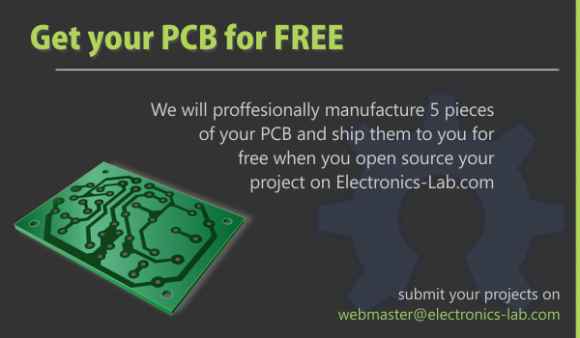 Free PCBs for open source projects - Embedded Lab