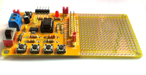 Rapid PIC12F development board