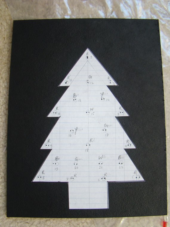 Layout of Christmas tree