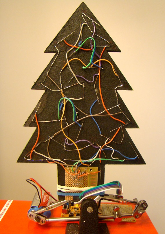 Making a mini LED Christmas tree - Embedded Lab on