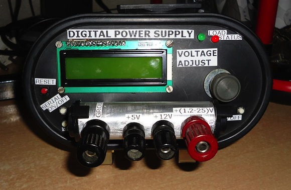 DIY Variable DC Power Supply with Display and PC interface