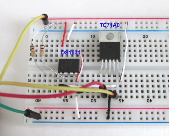 Two I2C devices on a common bus