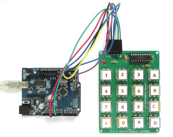 MM74C22N based encoded keypad