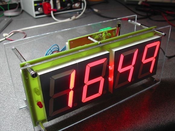 PIC clock and thermometer