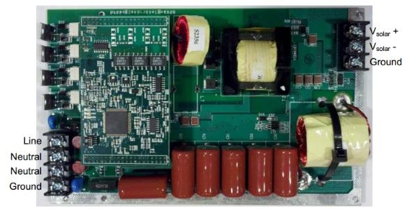 Microinverter for solar power