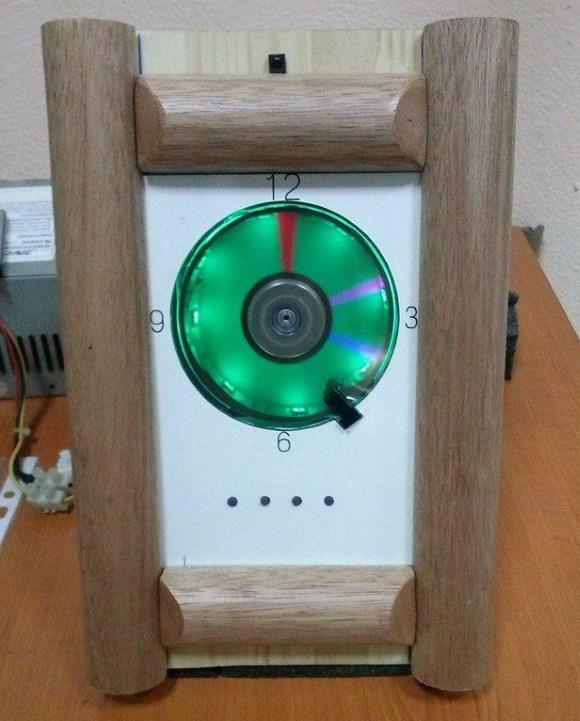 POV clock using hard disk motor