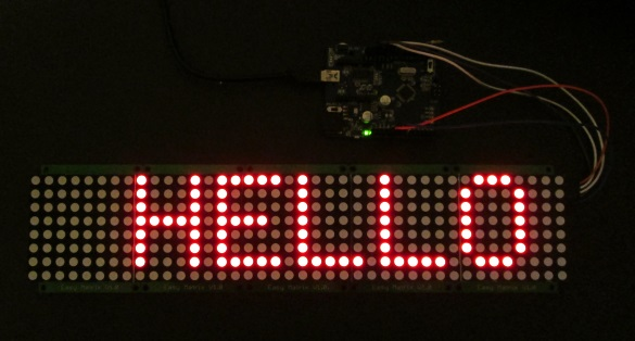 Portable Bluetooth-enabled scrolling LED matrix display