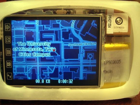 Portable GPS logger for runners