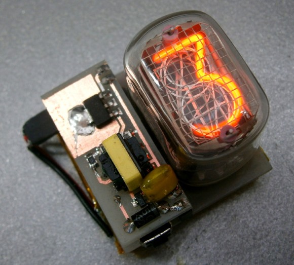 Single digit nixie clock