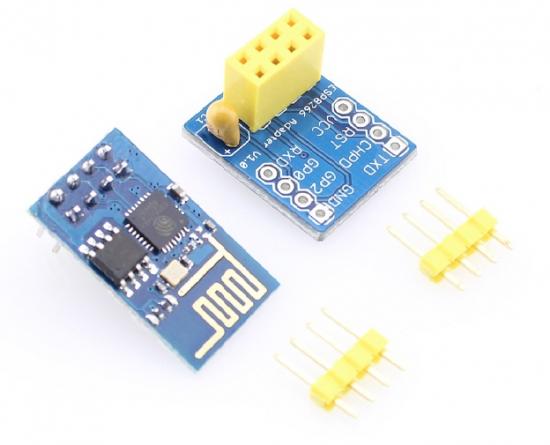 ESP8266 module and breadboard adapter