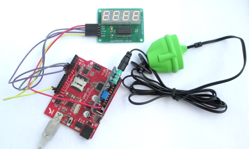 Arduino measures heart beat rate from fingertip - Embedded Lab