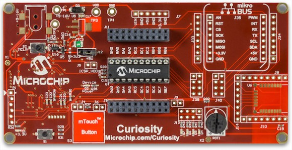 Curiosity development board from Microchip