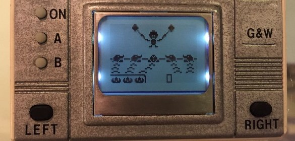 DIY Game and Watch video game player
