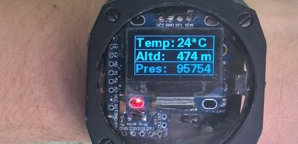 Arduino Pedometer wristwatch