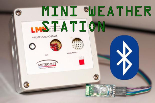 Arduino mini weather station embedded lab