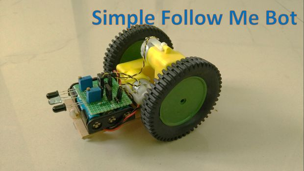 Making a simple follow me robot embedded lab