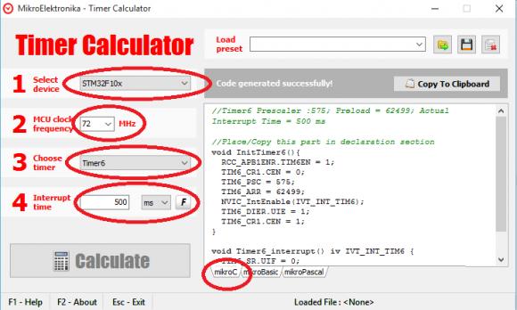 Timer Calculator Settings