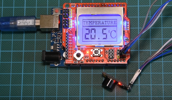 DIY Arduino infrared thermometer