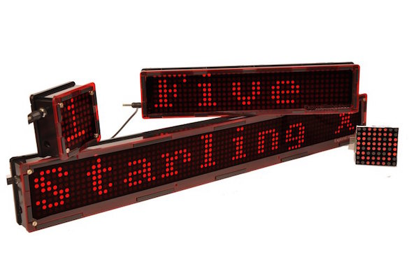 Starling: A Wifi enabled LED matrix display