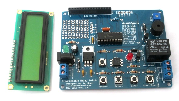 Assembled circuit board for PIC timer