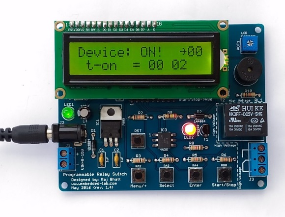 Timer is running and device is ON as indicated by red LED
