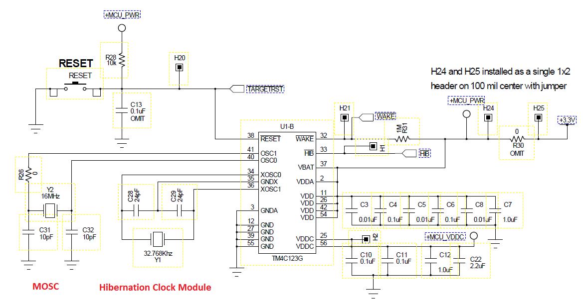 tiva c clock system  embedded lab, schematic
