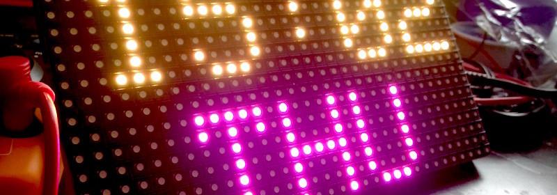 16x32 RGB Matrix Panel Driver Shield Revision 1 - Embedded Lab