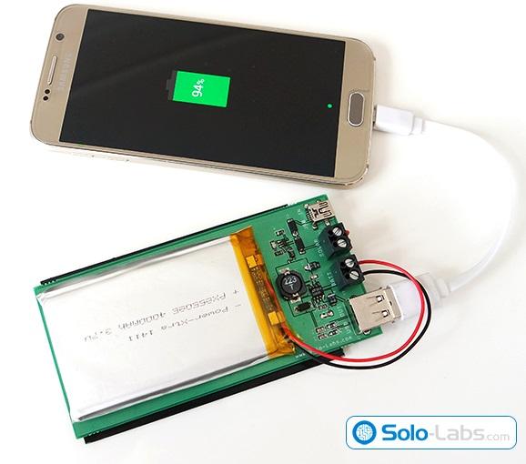 Solar powered USB power bank