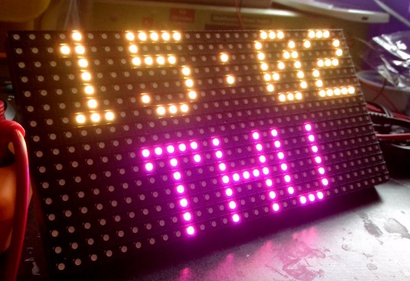 RGB matrix displays time and environmental data - Embedded Lab