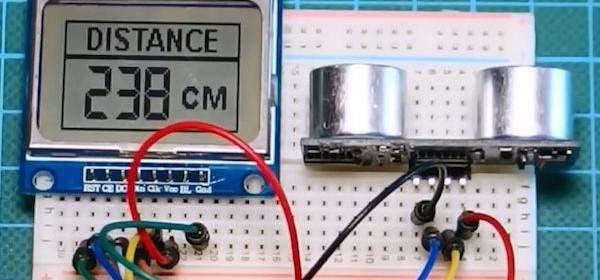 Arduino distance meter embedded lab