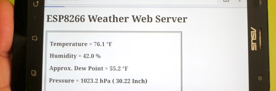 Weather web server using ESP8266 and BME280 environmental sensor