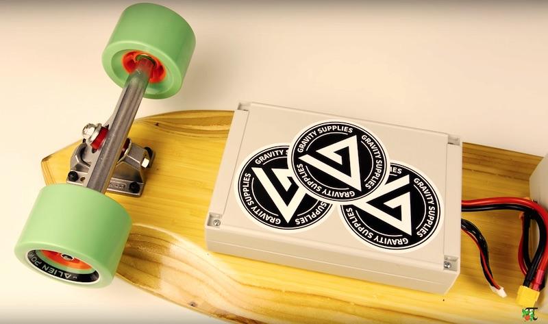 Pi Zero powered DIY skateboard