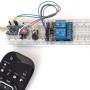 Controlling multiple relay switches using an IR remote